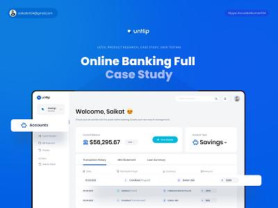 Online Banking Full Case Study bank payment transaction web design uiux business banking app finance case study online banking ux application web app header branding website web design ui
