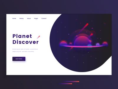 Planet Discover Illustration color header template social opportunity technology design ui planet illustrations illustration discover