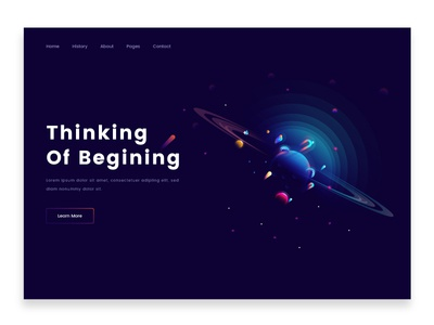 Illustration color header template social opportunity technology design ui planet illustrations illustration discover