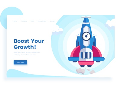 Illustration color boost ship quality space design ui header illustrations illustration