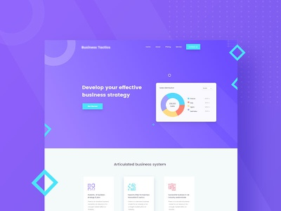 Business-ui/ux business agency database application web app trend 2018 plan strategy develop growth business color ux branding typography gradient design web header ui