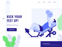 Fitness club landing page