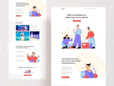 Creative agency landing page meeting landingpage trend design ux business minimal agecy creative creative agency website web typography branding ui header character illustrations color illustration