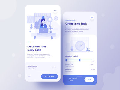 Task management apps exploration trend workout user research uiux mobile ui minimal illustration character work calculation android ios mobile application project management project task management task apps