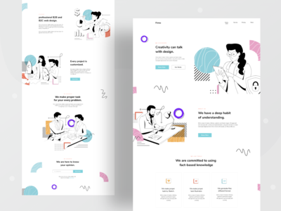 Design Firm landing page