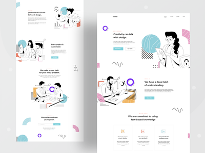 Design Firm landing page visual performance order business landingpage marketing consultancy firm designer branding web design typography ux website ui header character illustrations illustration