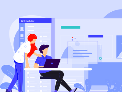 10 Secret Features of SP Page Builder design vector character features cms joomshaper secret page builder sp page builder page joomla illustrations color illustration