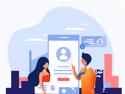 Successfully Created Enclave Profile application apps mobile create profile enclave dating website design character illustrations color illustration