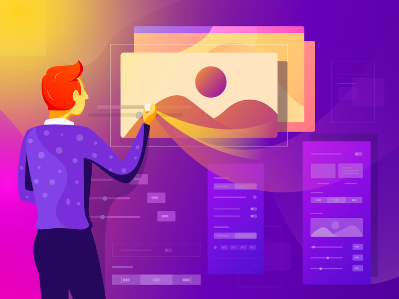 Qubely Brings New Image Block Updated wordpress layout builder cusyomize addon block image qubely branding ux gradient character illustrations color illustration