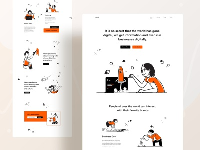 Landing page exploration product design trendy user webdesign growth business boost research vector branding typography ux ui website design web character header illustrations illustration