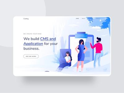 CMS Landing page