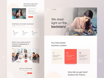 Landing page exploration application digital agency firm growth research consultancy website wedesign ux color vector branding design logo character ui header illustrations illustration