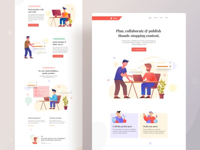 Digital agency landing page analysis solution consultant corporate digital agency business research product design typography ux web website design ui header character illustrations color illustration