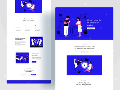 landing page exploration communication agency user analysis business research calling communication chat typography gradient ux website web character color ui header illustrations illustration