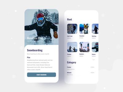 Snowboarding application exploration