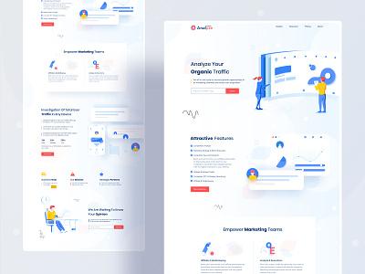 Web and Apps analyzing Landing page application product design seo marketing strategy user analyze api data viz business typography ux website web design color ui header illustrations illustration