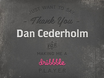 Thank you dan cederholm