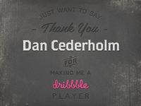 """Thank You """"Dan Cederholm"""" (SimpleBits)"""