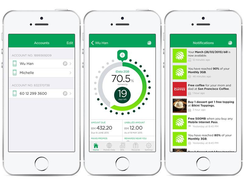 Telco app concept 2015 maxis ui app ios telco