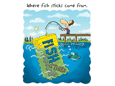 Where Fish Sticks Come From.