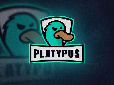 Platypus Mascot Logo esports logo esports animal logo animal platypus logo platypus mascot logo sport logo branding identity logo