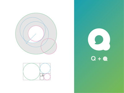 Q for Communication Logo Grid identity logo branding mark monogram communication communication logo logo grid grid logo system talking cloud logo q logo q monogram q mark