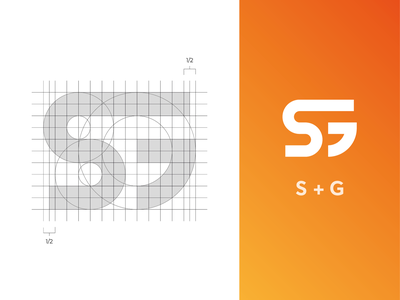 SG Monogram identity logo branding mark monogram logo grid sg logo s logo g logo monogram logo sg monogram grid logo system