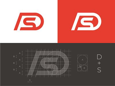 D + S Monogram ds logo grid ds logo ds monogram monogram logo grid identity logo branding mark