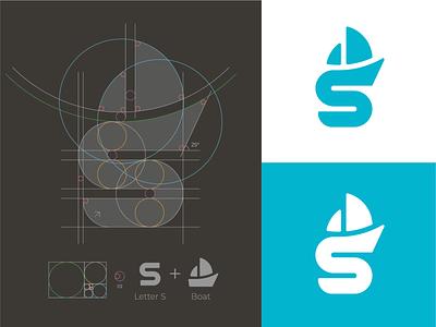 S + Boat Logo logo grid monogram mark branding logo identity s monogram s mark s s logo ship logo sailing logo boat logo sail logo
