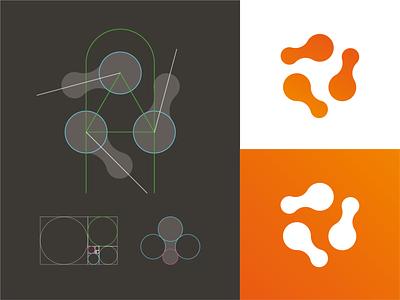 Metaball Triangle Logomark mark branding grid monogram metaball logo metaball identity logo tech logo tech software logo software logo system logo grid