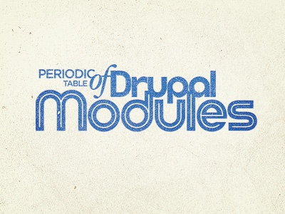 Periodic table drupal modules