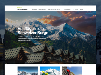 A brand new website for Zürich Tourism