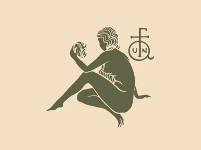Faun Salon Logo monogram branding design hair care hair dresser stylist logo illustration