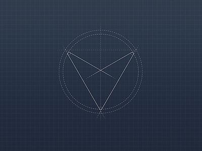 Voyager VPN Icon Sketch
