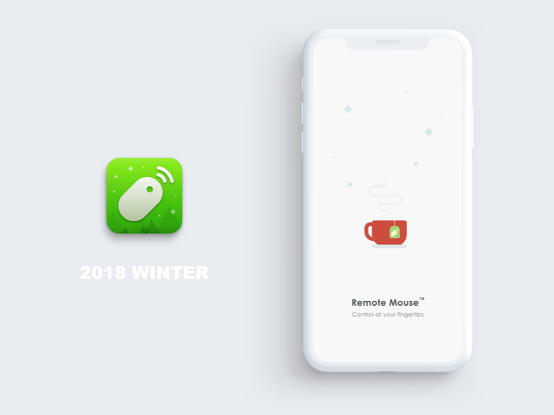 Winter Mood splash screen chrismas seasons greetings remote mouse genial holiday new year cozy warm tea cup tea bag snow flake snow winter
