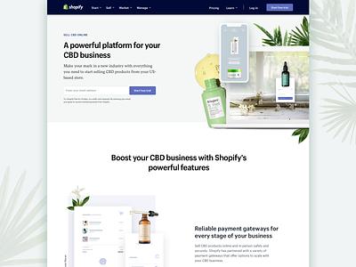 Sell CBD landing page sell hemp cbd design shopify landing page web ecommerce