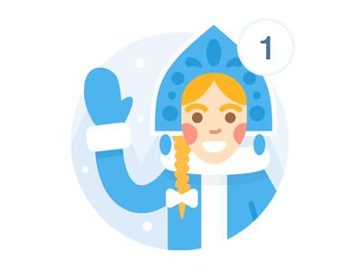 Snow Maiden badge for VK