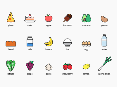 Food Icons 01