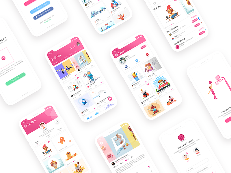 Dribbble Concept Design ux ui page ios11 interface illustration dribbble design application