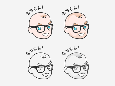 Custom manga-style character variants
