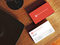 Simple, Flat Business Cards