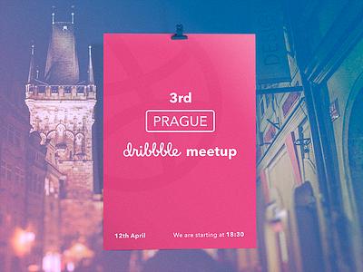 Prague Dribbble Meetup dribbble poster slovak czech prague meetup