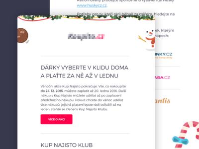 📰 Newsletter Design yummy xmas christmas flat simple clean design newsletter