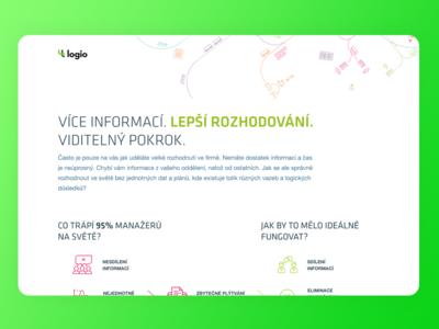 🤖 Logio Landing Page simple flat web transport sales landing page