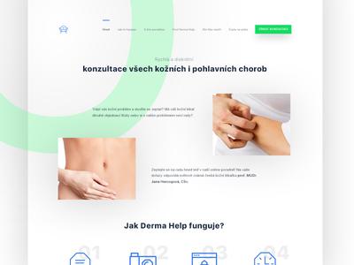 🔬 Online Dermatology Consulatations modern health medicine dermatology landing web flat simple