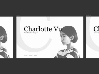 🕶  Portfolio Time! white black photo landing web photoshop portfolio