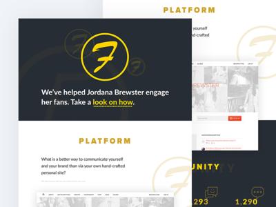 👏 Fans engagement platform client case study product page simple visual design minimalistic landing page clean web modern flat web design case study