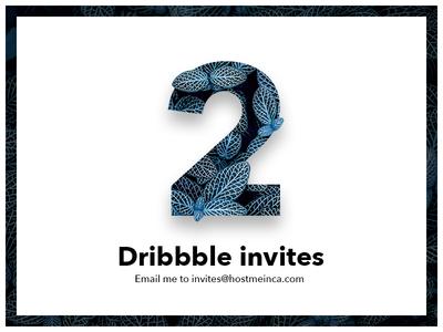 💌 2 Dribbble Invites giveaway! designer new prospects prospect modern simple clean giveaway dribbble invites invite