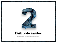 💌 2 Dribbble Invites giveaway!