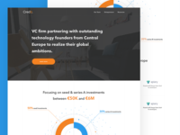 💰 Venture Capital Fund Landing Page Concept menu header clean modern flat venture capital graph landing
